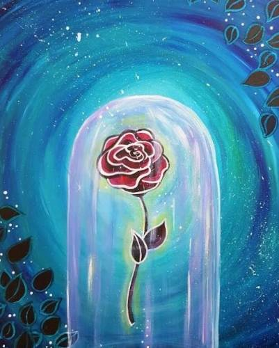 A The Enchanted Rose paint nite project by Yaymaker