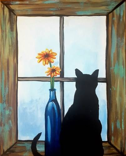 A Barnyard Cat paint nite project by Yaymaker