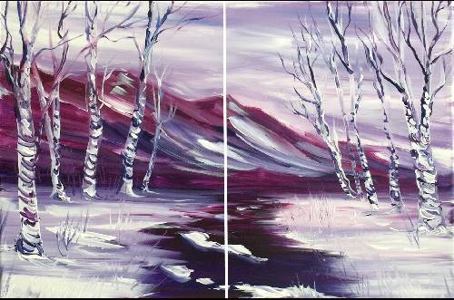 A Spring Thaw Partner Painting paint nite project by Yaymaker