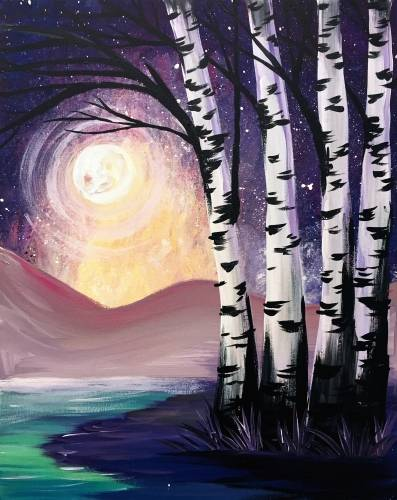A Midnight Birch paint nite project by Yaymaker