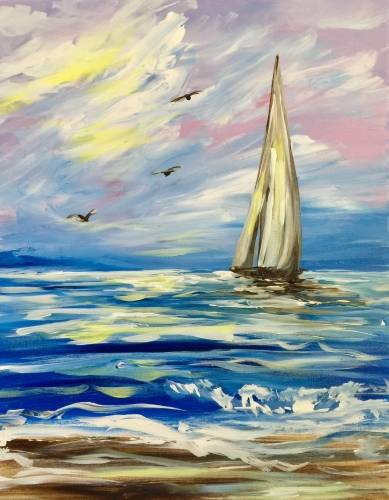 A Catching Cape Winds paint nite project by Yaymaker