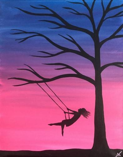A Twilight Swing paint nite project by Yaymaker
