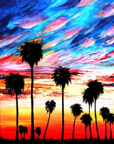 A California Dreamin paint nite project by Yaymaker