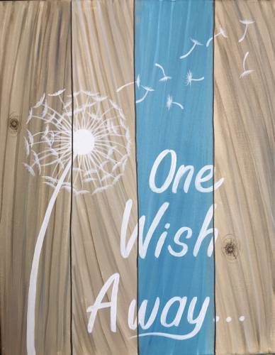 A One Wish Away Sign paint nite project by Yaymaker