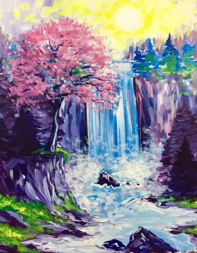 A Dont Go Chasing Waterfalls paint nite project by Yaymaker