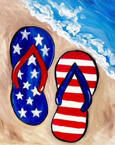 A Yankee Beach Party paint nite project by Yaymaker