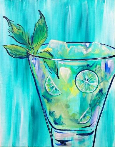 A Mojitos for Breakfast paint nite project by Yaymaker