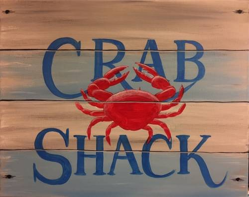A Crab Shack Sign paint nite project by Yaymaker