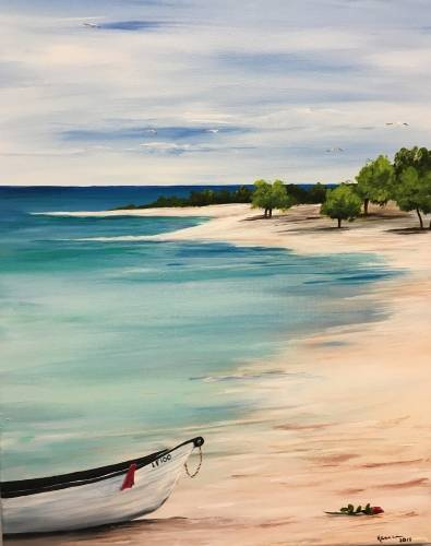 A La Isla Bonita paint nite project by Yaymaker