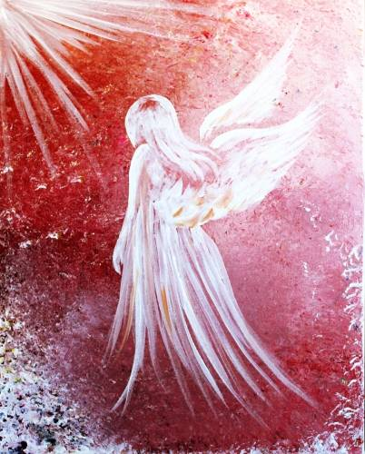 A Fragile Angel paint nite project by Yaymaker