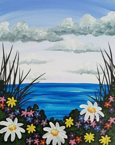 A April Showers Bring May Flowers paint nite project by Yaymaker
