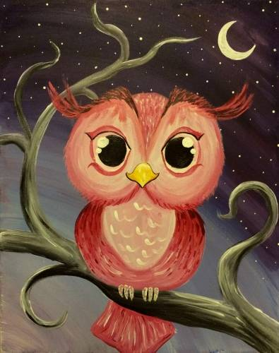 A Owl Always Be Cute paint nite project by Yaymaker