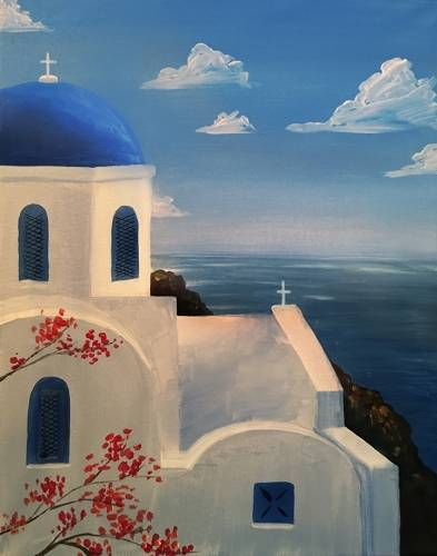 A Santorini II paint nite project by Yaymaker