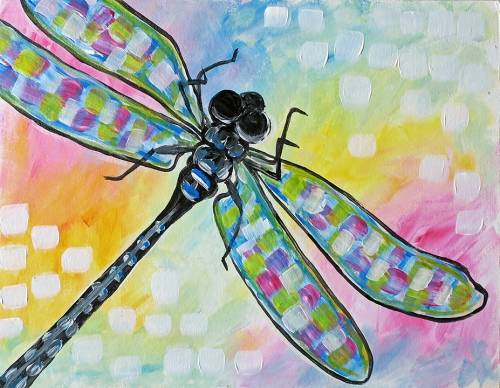 A Shimmering Dragonfly paint nite project by Yaymaker