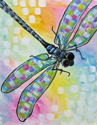 A Shimmering Dragonfly II paint nite project by Yaymaker