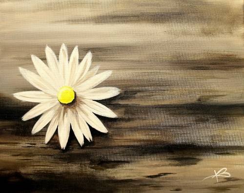 A Rustic Daisy paint nite project by Yaymaker