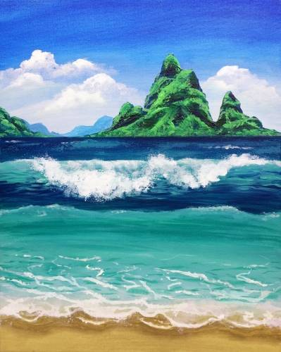 A The Ocean Calls Me paint nite project by Yaymaker