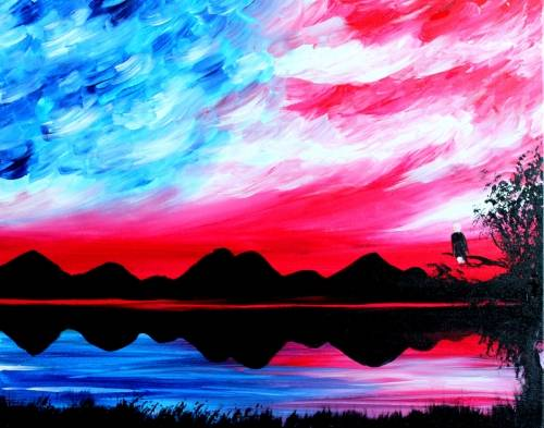 A American Sky II paint nite project by Yaymaker