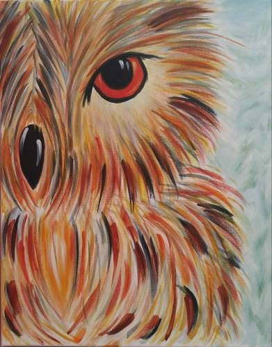 A Owl See You Soon paint nite project by Yaymaker