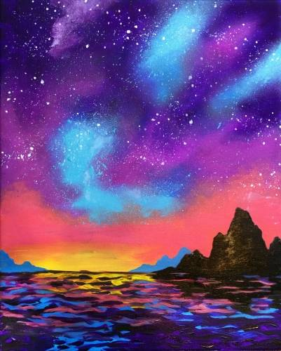 A Stars Will Guide You Home paint nite project by Yaymaker