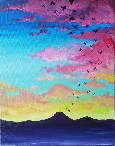 A The Sunset paint nite project by Yaymaker