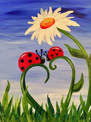 A Ladybug Love III paint nite project by Yaymaker
