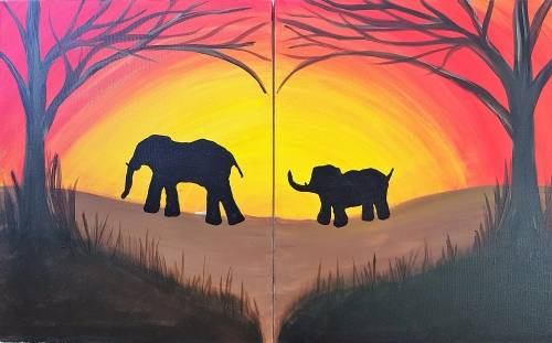 A Momma Elephants Heart paint nite project by Yaymaker