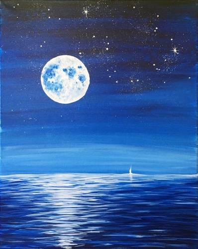 A Beyond The Sea paint nite project by Yaymaker