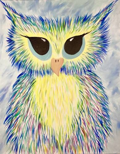 A Confetti Owl II paint nite project by Yaymaker