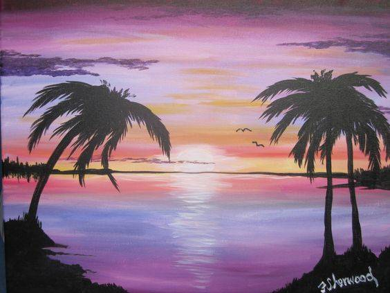A Another Night In Paradise paint nite project by Yaymaker