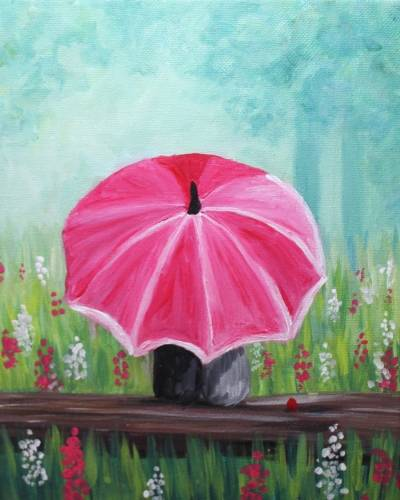 A Springtime Beneath the Umbrella paint nite project by Yaymaker
