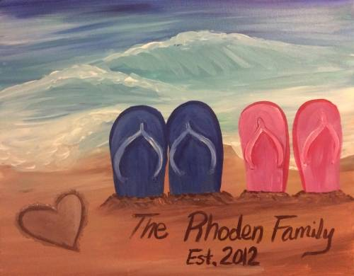A Family Beach Day II paint nite project by Yaymaker