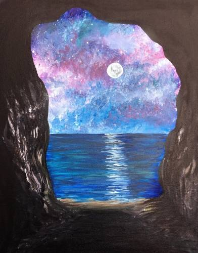 A Galaxy Cave paint nite project by Yaymaker