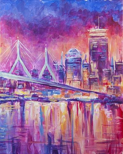 A Colorful Boston paint nite project by Yaymaker