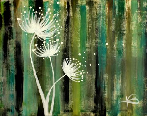 A Country Dandelions paint nite project by Yaymaker