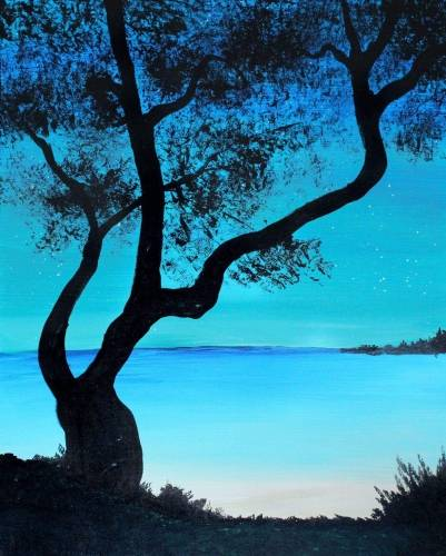 A Beach Dreaming paint nite project by Yaymaker