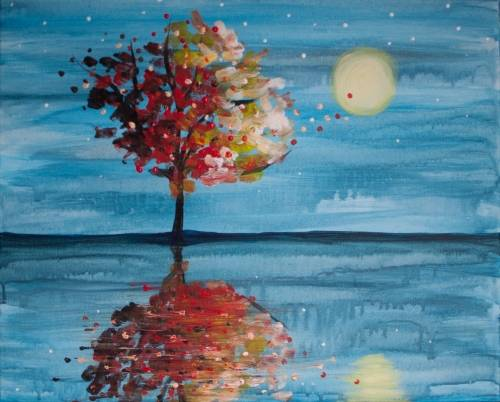 A Lonely Autumn paint nite project by Yaymaker