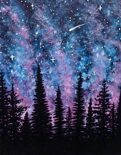 A Northern Night paint nite project by Yaymaker