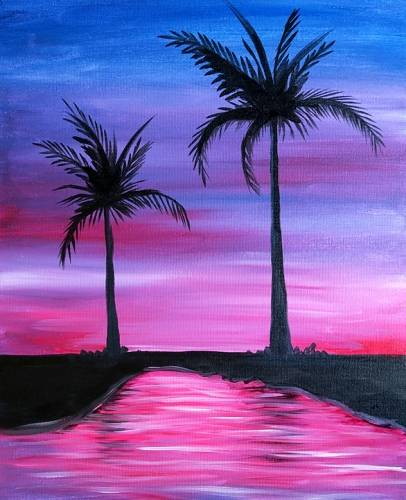 A 2 Palms II paint nite project by Yaymaker