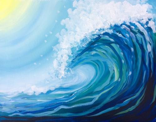 A Just A Wave paint nite project by Yaymaker