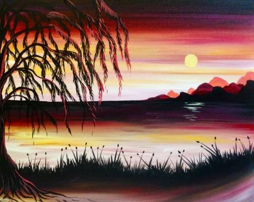 A Sunset Willow paint nite project by Yaymaker