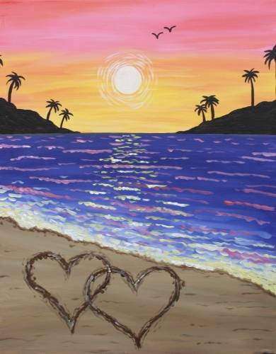 A Hearts in the Sand paint nite project by Yaymaker
