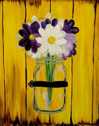A Country Flower Vase paint nite project by Yaymaker