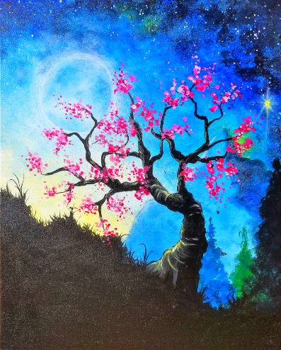 A Mountain Blossom paint nite project by Yaymaker