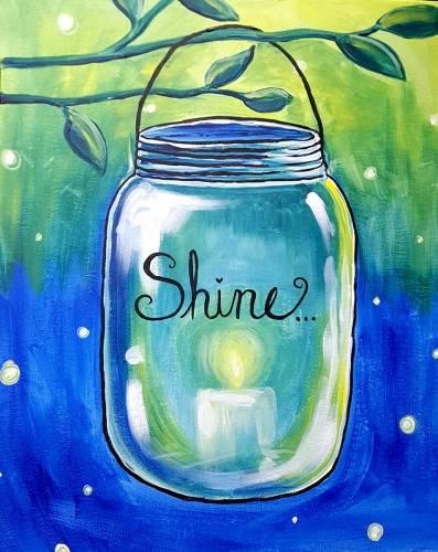 A Mason Jar Shine paint nite project by Yaymaker
