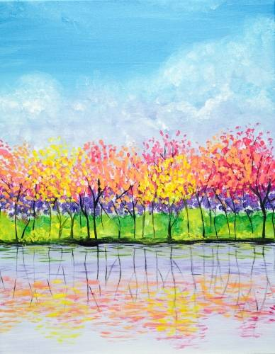 A Rainbow Reflections paint nite project by Yaymaker