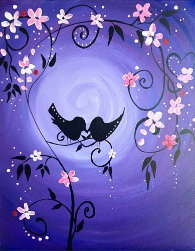 A The World Blooms Through Love II paint nite project by Yaymaker