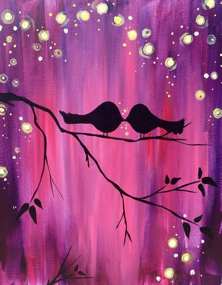 A Summers Are for Lovers paint nite project by Yaymaker