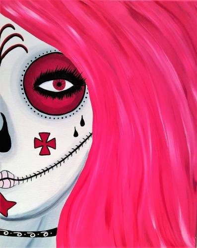 A Skull Series II paint nite project by Yaymaker