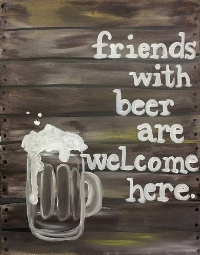 A Friends with Beer paint nite project by Yaymaker
